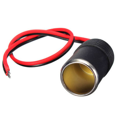 NS Cable Cigar Plug 12/24V Female Car Cigarette Adapter Socket Connector (Cigarette Plug Adapter Cable)