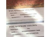 4 Boxes - Unopened PVC Gypsum Ceiling Tiles (595mm x 595mm x 7mm) 8Pcs/Carton