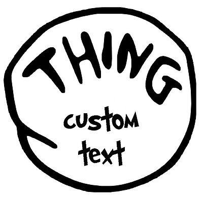 Custom Thing 1 # 18 - 8 x 10 - T Shirt Iron On Transfer - Thing 2 , Thing Mom