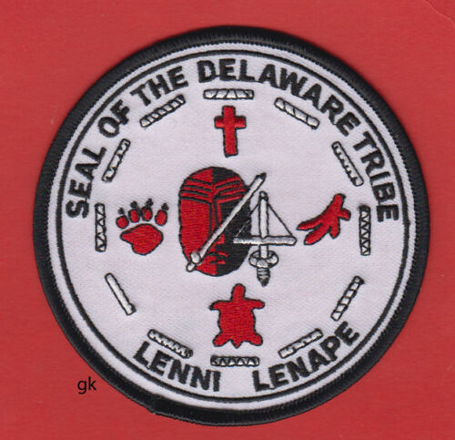 SEAL OF THE DELAWARE LENNI LENAPE TRIBE  INDIAN  TRIBAL SHOULDER PATCH