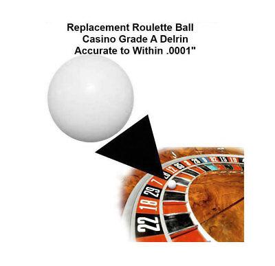 (Two) 1/2 Inch Casino Grade Roulette Ball (Pill) - Item 20-1012x2