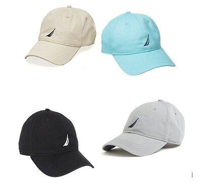 Sale Mens Nautica J Class Cotton Twill Cap Hat Black Gray Tan Blue Red White