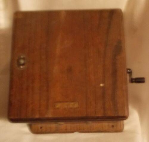 Pre 1940 oak western electric magneto box with  5 bar magneto