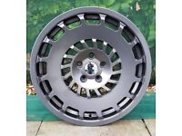 """18"""" Gunmetal Retro 44 Alloy Wheels 5x112 for a Golf MK5 MK6 MK7 Jetta Caddy ETC"""