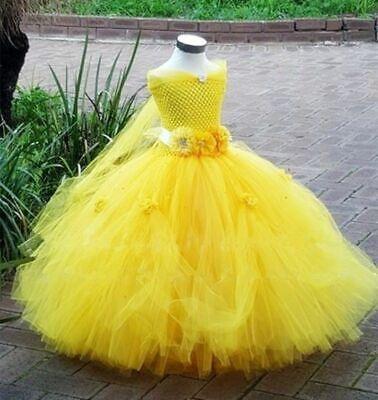 Belle Princess Tutu Dress Baby Fancy Party Costumes Beauty Beast Cosplay Dress