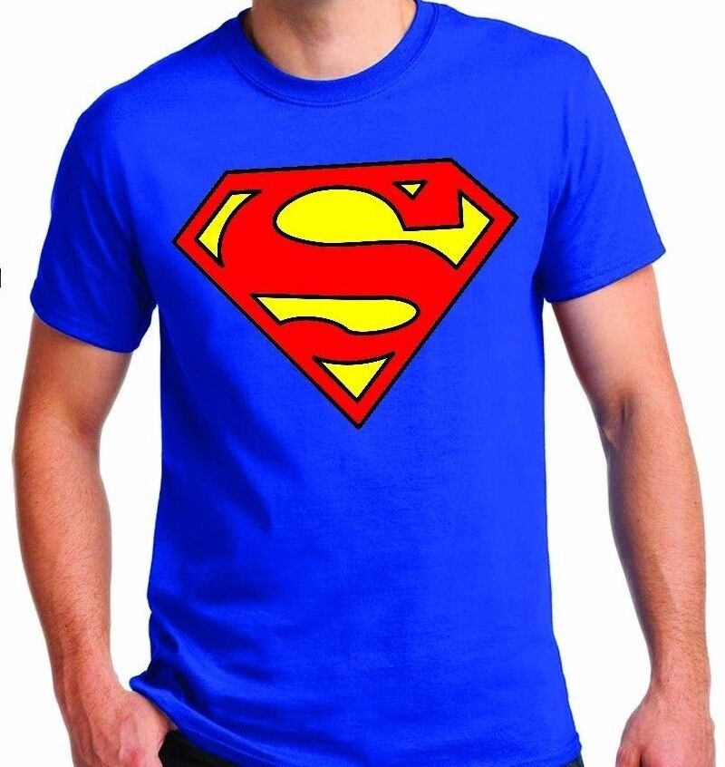 Classic Superman Logo T Shirt Color Royal Blue Ebay