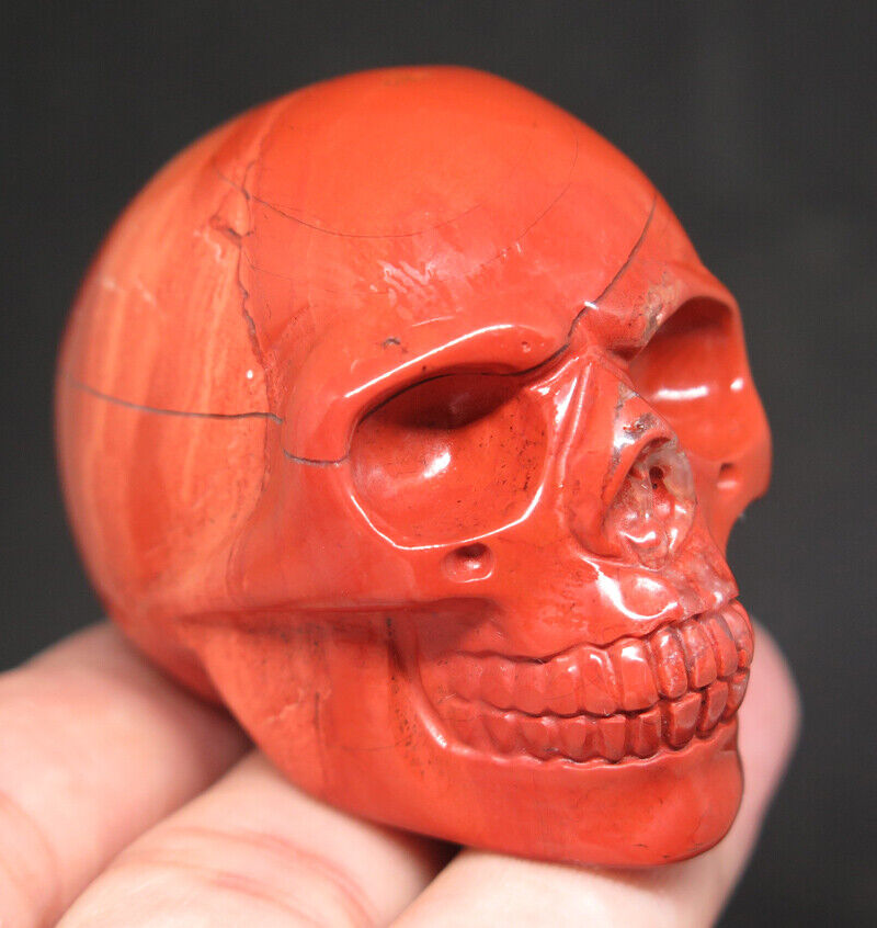 51mm 3.8OZ Natural Red Jasper Crystal Carving Art Skull - $4.05