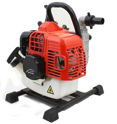 Portable 33cc Gas Gasoline Water Pump 2-stroke Engine W Adjustable Speed Lever