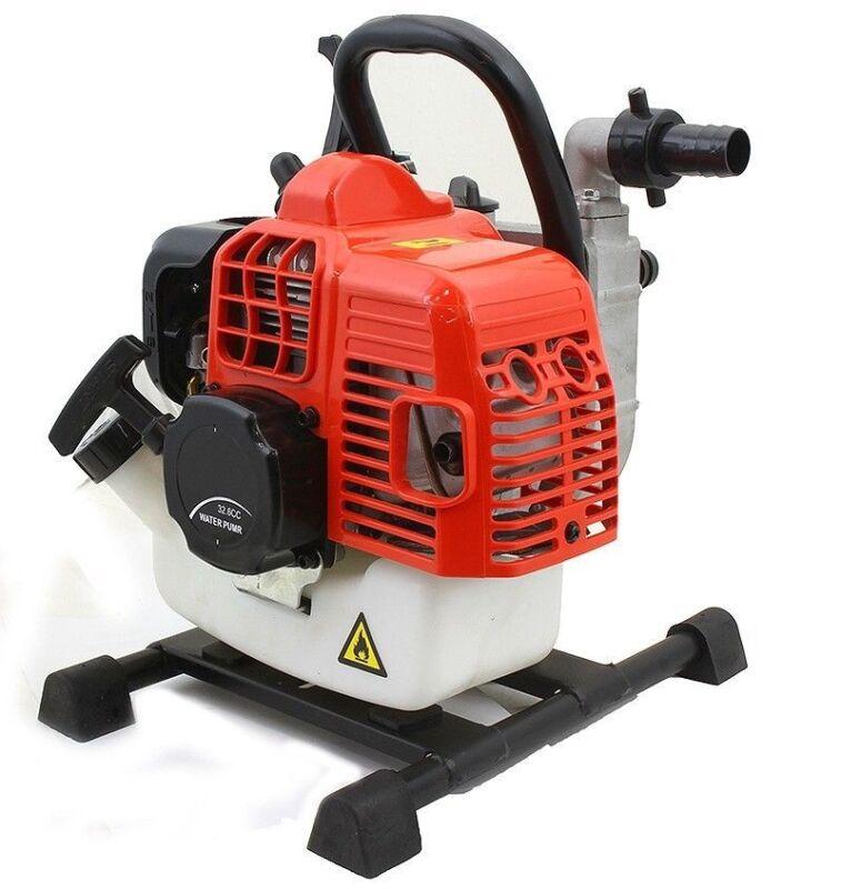 Portable 33cc Gas Gasoline Water Pump 2-Stroke Engine w/ Adjustable Speed Lever