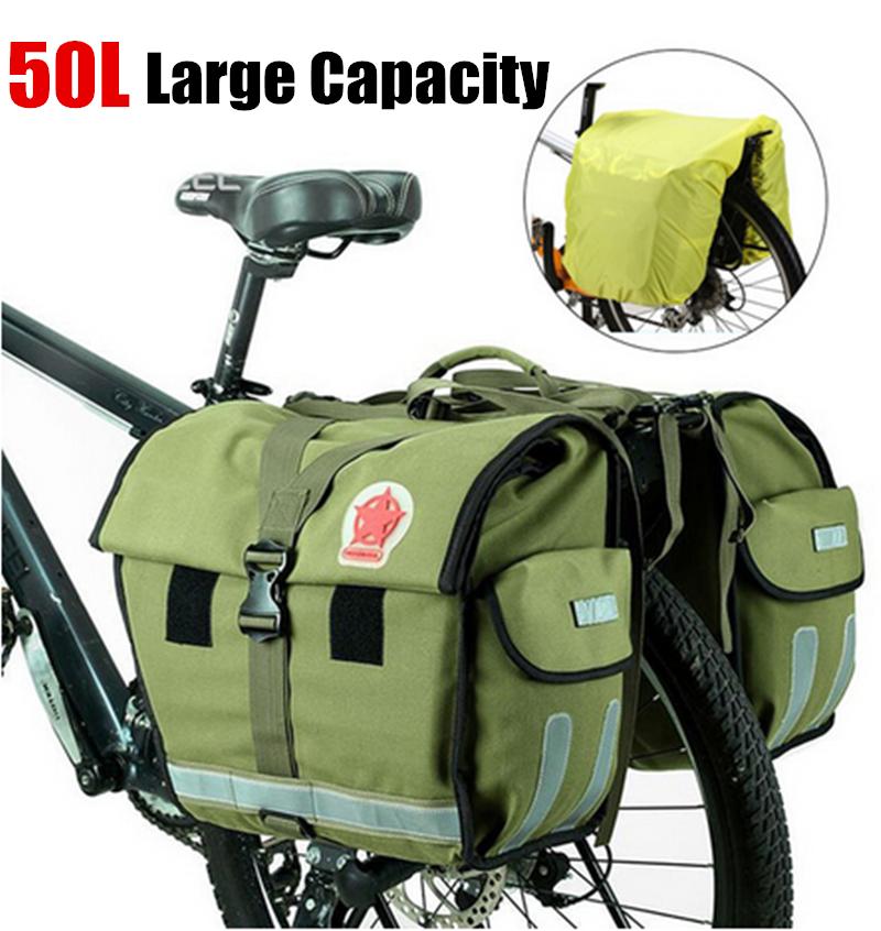 Roswheel 50L Green Waterproof Bicycle Trunk Rack Rear Rack B