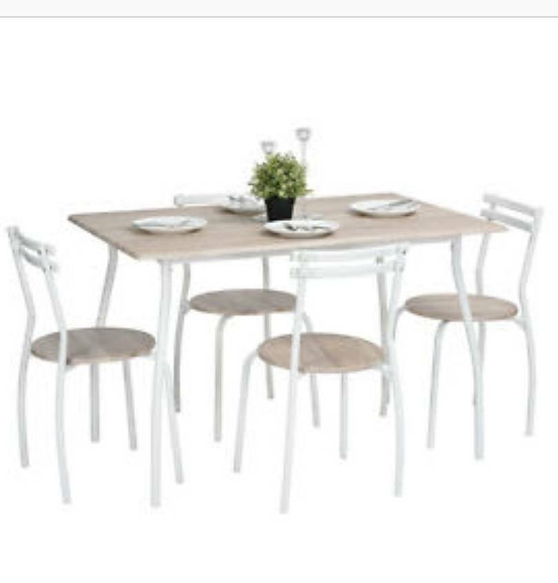 Contemporary Dining Table With 4 Chairs Beech Wood Swansea 2500