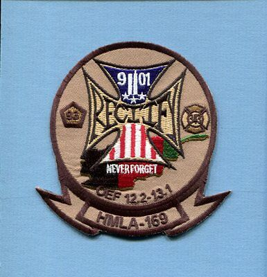 HMLA-169 VIPERS Never Forget USMC MARINE CORPS Attack Helicopter Squadron Patch