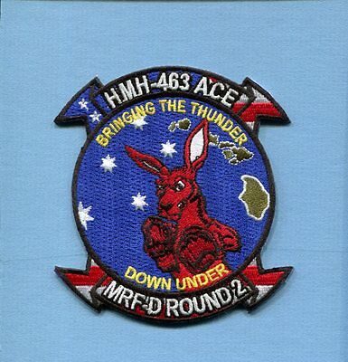 HMH-463 PEGASUS Down Under DET USMC MARINE CORPS Helicopter Squadron Patch