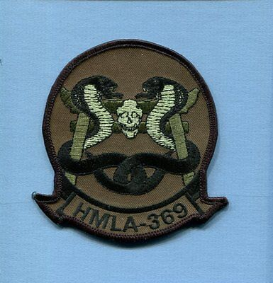 HMLA-369 GUNFIGHTERS USMC MARINE CORPS Attack Helicopter Subdued Squadron Patch