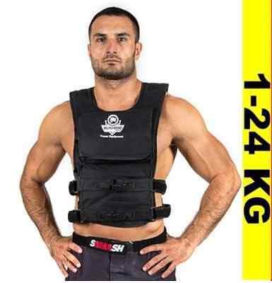 BUSHIDO Gewichtweste Trainingsweste Joggingweste Fitnessweste - Gürtel 1-24 kg