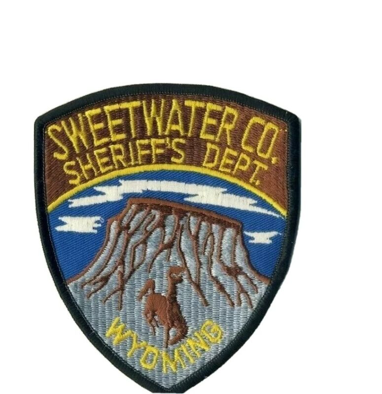 """Sweetwater County Wyoming WY Sheriff Police 5"""" Shoulder Patch"""