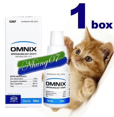 1 box PET EYE DROPS ALKIN OMNIX - For Bacterial Eye Infection, Dogs, Cats 10ml