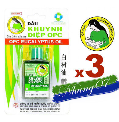 3 OPC Eucalyptus Oil BABY MOTHER - Cold Flu - Runny nose Nasal congestion 25ml (Infants Cold Flu)