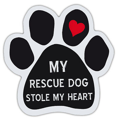 Dog Paw Shaped Magnets: MY RESCUE STOLE MY HEART   Dogs, Gifts, Cars, Trucks