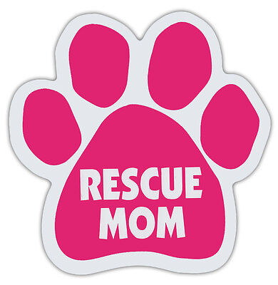 Pink Dog Paw Shaped Magnets: RESCUE MOM | Dogs, Gifts, Cars, Trucks