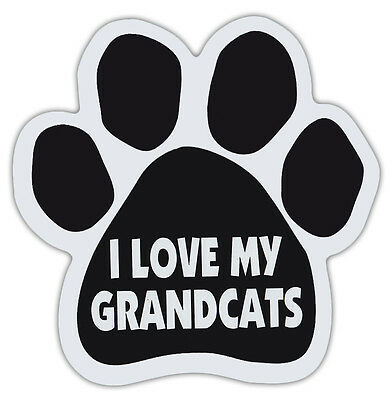 Cat Paw Shaped Magnets: I LOVE MY GRANDCATS | Cats, Gifts, Cars, Trucks