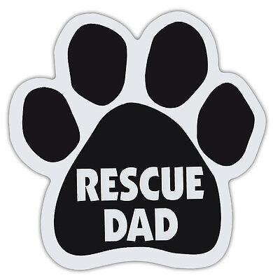 Dog Paw Shaped Magnets: RESCUE DAD | Dogs, Gifts, Cars, Trucks