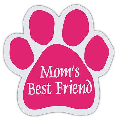 Pink Hundepfote Geformt Magnete: MOM'S Bester Freund Hunde, Geschenk, Auto,