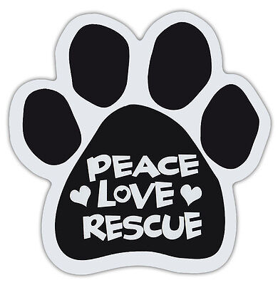 Dog Paw Shaped Magnets: PEACE LOVE RESCUE   Dogs, Gifts, Cars, Trucks