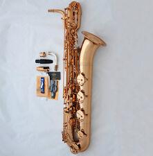 2018 New PRO. TaiShan Baritone Saxophone Rose Gold Finish Eb Sax Germany Mouth