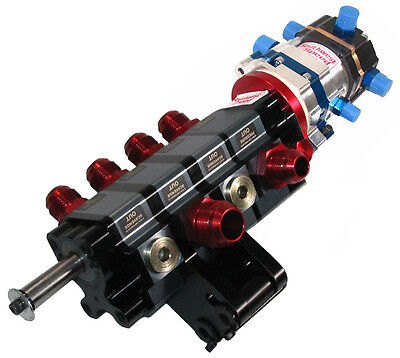 KSE TANDEM X DIRECT DRIVE & STOCK CAR PRODUCTS 4 STAGE DRY SUMP PUMP,FUEL,OIL,PS