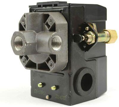 Lefoo Quality Air Compressor Pressure Switch Control 95-125 Psi 4 Port Wunloade