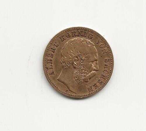 Germany Saxony 1881 10 Mark Gold, Krause #1235, VF