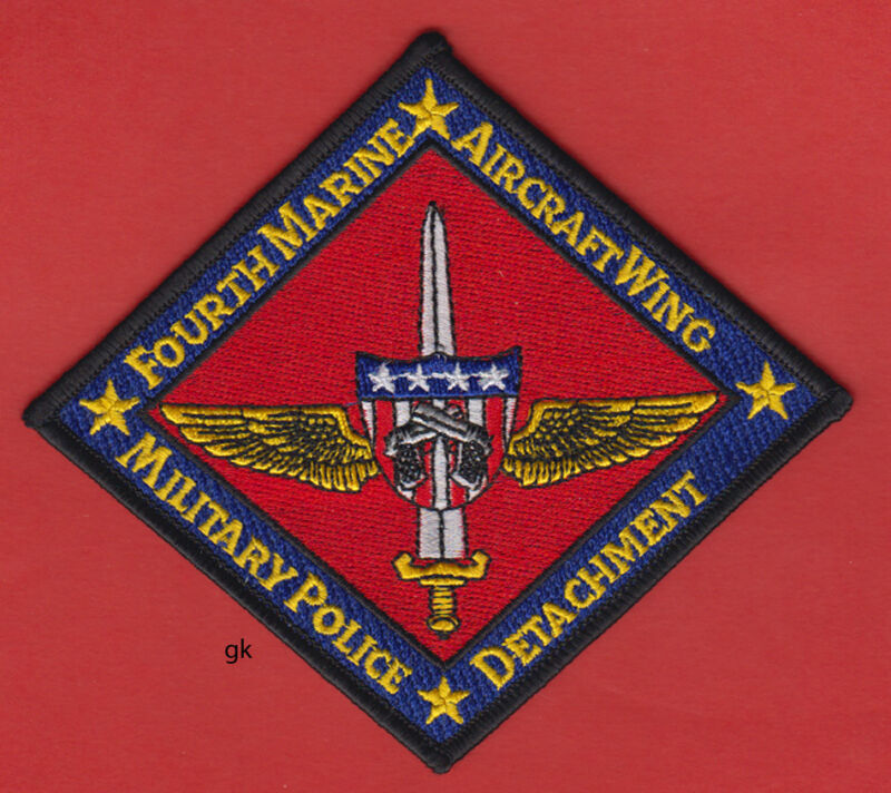 FOURTH MARINE AIRCRAFT WING MILITARY  POLICE SHOULDER PATCH