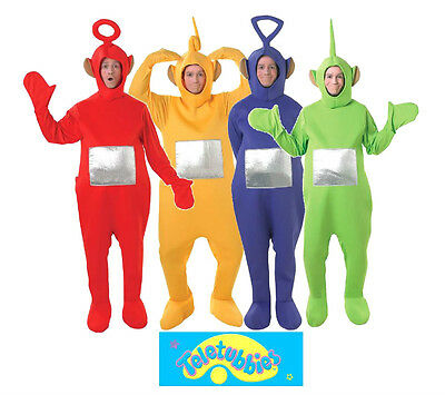 Laa Laa Teletubbies Kostüm (Official Adult TELETUBBIES Laa Laa Dipsy Po Tinky Winky TV Fancy Dress Costume)