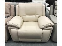 Leather Manual or Electric Recliner Armchair