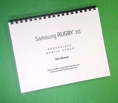 Руководство LASER PRINTED Samsung Rugby lll