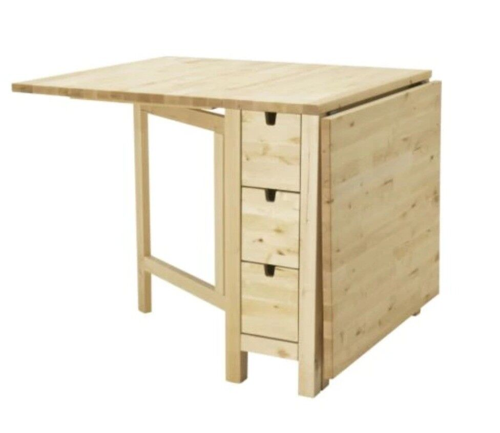 Ikea Norden Gateleg Extendable Folding Dining Room Table In Birch With 6 Drawers Maidenhead Berkshire Gumtree