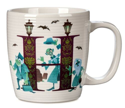 NEW Disney Parks H Is For The Haunted Mansion Ceramic Coffee Mug Cup ABC Letters