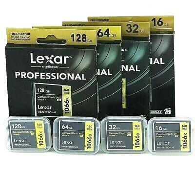 New Lexar 16/64/128GB 1066X Compact Flash CF Memory Card UDMA7 For Camera Lexar Compact Flash Card
