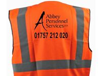LONG TERM WAREHOUSE WORK IN SELBY - TRANSPORT FROM DONCASTER & GOOLE