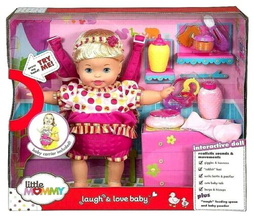 Little Mommy Baby Doll Laugh and Love Interactive New Sealed