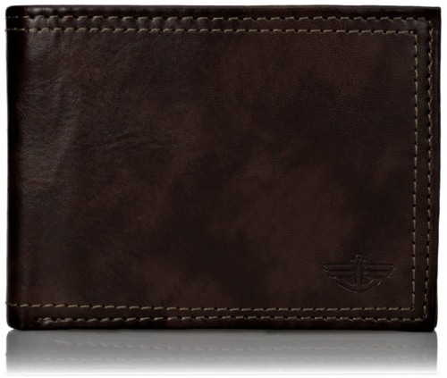 Lot of 6 Men/'s wallet Genuine Leather Hipster Bifold Black Men/'s billfold NWT
