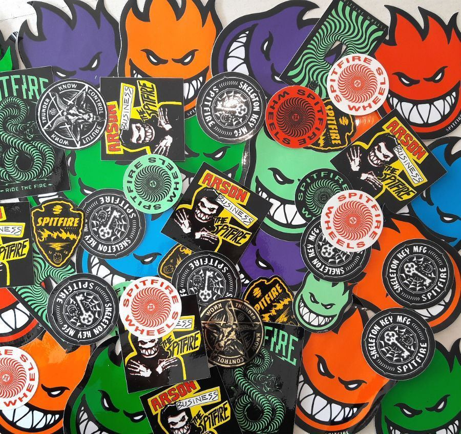 Spitfire Wheels Skateboard Stickers 5 Pack Assorted FREE POST New Skateboard decal