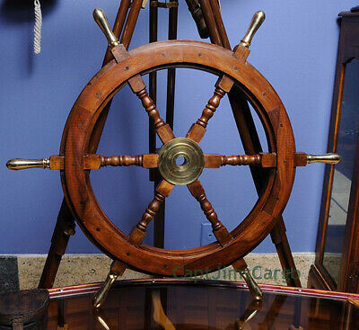 Teak Wood Ships Steering Wheel 30