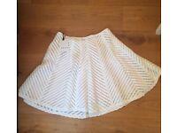Reiss White Skirt- brand new! Size 14