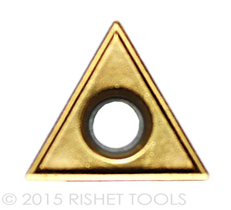 RISHET TOOLS TT 221 C5 Multi Layer TiN Coated Carbide Inserts - Box of 10