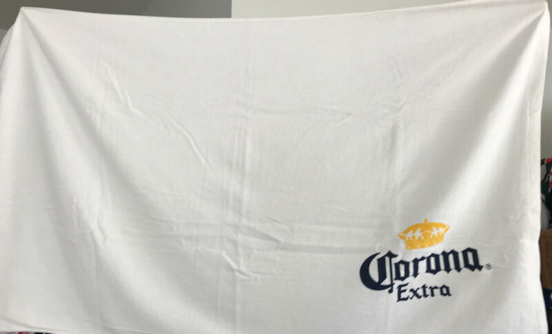 """Corona Extra Beer Beach Towel 60"""" x 36"""" NEW Mexico Cotton Fluffy"""