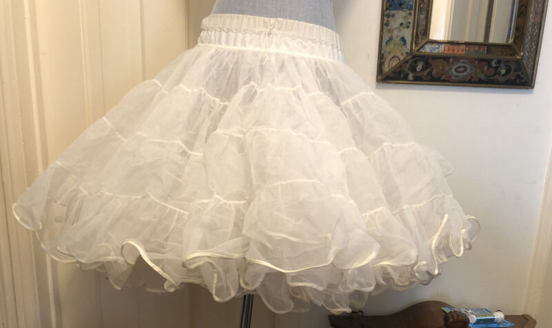 Square Dance Petticoat Ivory Partners Please Malco Modes #565 Full Vintage S