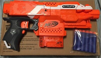 New Nerf Elite Stryfe XD Orange W/ 6 Rnd Mag and 6 Darts