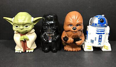 Star Wars Flashlight Lot 4 Yoda Darth Vader Chewbacca R2D2 JAKKS Pacific
